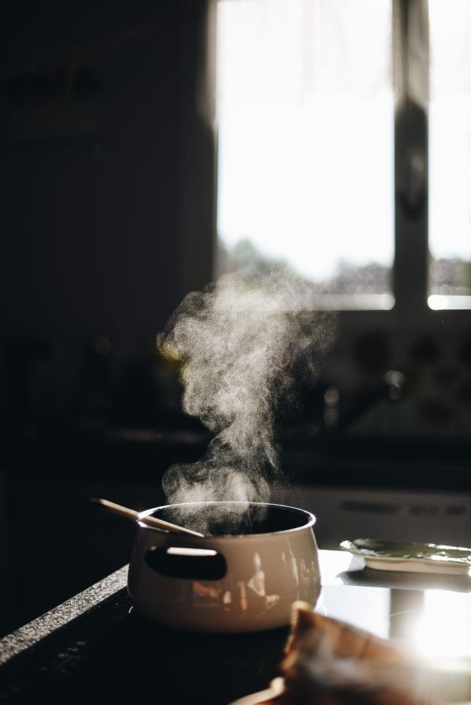 casserole fumante