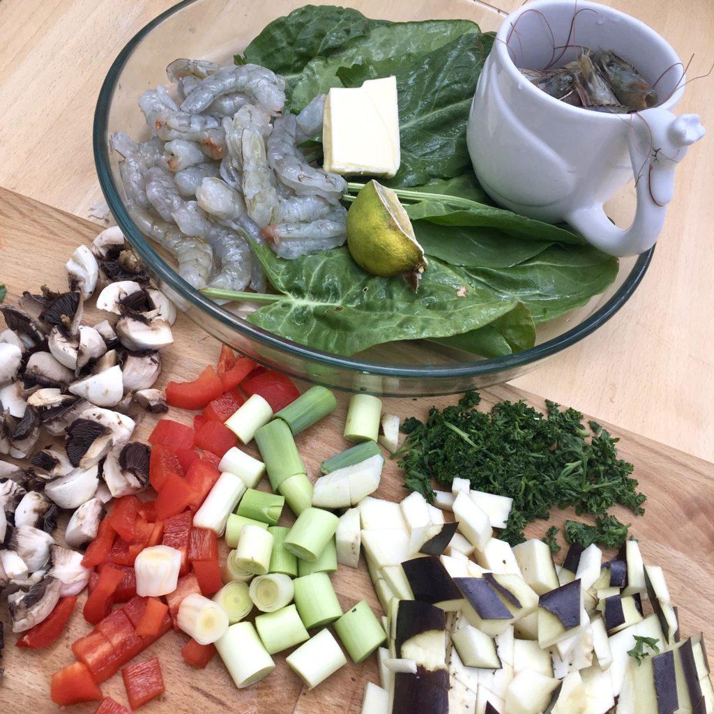 ingrédients coloré pour assiette variée